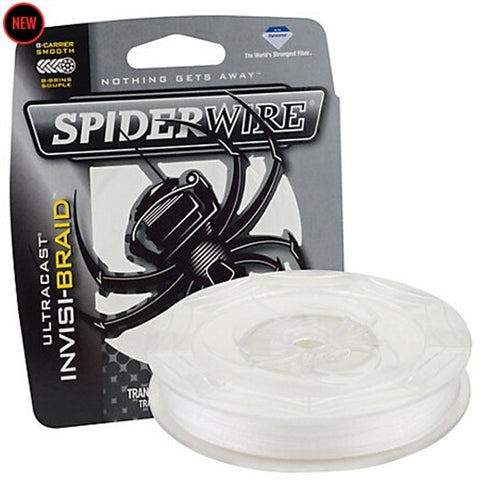 SpiderWire Brand ULTRACAST Series 114M 125YD Translucent Invisibility Braided Fishing Line 8 Strand High Strength Thin Sensitive