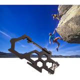 Multifunctional EDC Para-Biner Pulley System Stainless Steel