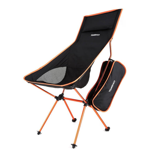 TOMSHOO Folding Fishing Chair Ultra Lightweight Outdoor Picnic Camping Chair Lounger Chair Portable