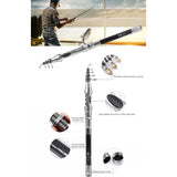 Carbon Fiber Mini Automatic Fishing Rod 1.8m 2.1 m
