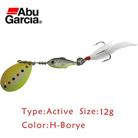 Abu Garcia Brand Active Style H-Borye Color 12g Spoon Bait Spinner Pike Salmon Perch Trout Fishing Tackle ardent