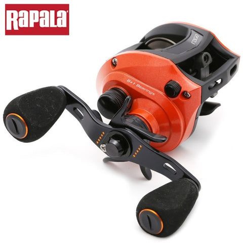 Rapala Brand RAGE Red Color 7 Ball Bearings 6.5:1 Right / Left hand Baitcasting Fishing Reel Centrifugal Brake Bait Casting Reel