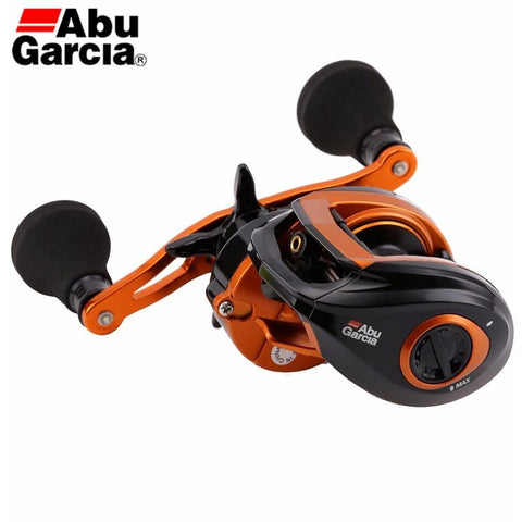 Abu Garcia Brand Orange Max Right Hand Fresh Sea Water Bait Casting Reel Drum Carp Fishing Gear Baitcasting 4+1BB 7.1:1 OMAX3-R