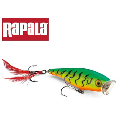 Rapala Brand Skitter Pop SP07 7cm 7g Top Water Popper Fishing Lure Hard Bait Artificial Freshwater Lure with Feather