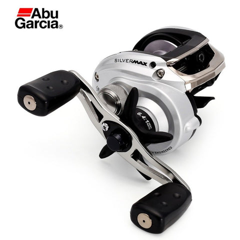 NEW 2016 Abu Garcia Brand SILVER MAX3 SMAX3 Left Right Hand BaitCasting Fishing Reel 5+1BB 6.4:1 209g Bait Casting Reel