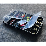 New Arrivals 20 Kinds 128pcs Fishing Accessories Hooks Fishing Swivels Weight Fishing Sinker with Storage Box
