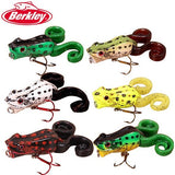 Berkley Brand Frenzy Series Power Pop Froglure 60mm 10g Wobbler  Hard Fishing Lure Topwater artificial Fishing Bait  VMC Hooks