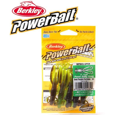 Berkley Brand Powerbait Series Bulky Hawg MPBH3 8cm Soft Lures Japanese Long-tailed Cricket Artificail Baits 5pcs/bag for bass