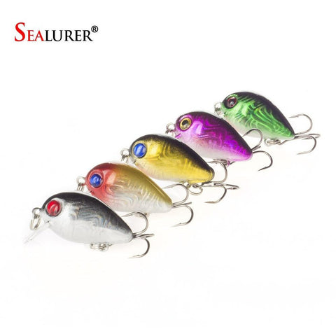 5PCS 3cm 1.6g Mini Crazy Wobble Pesca Crankbait Hard Crank Bait Tackle Artificial Fishing Lure Swimbait Fish Japan Wobbler