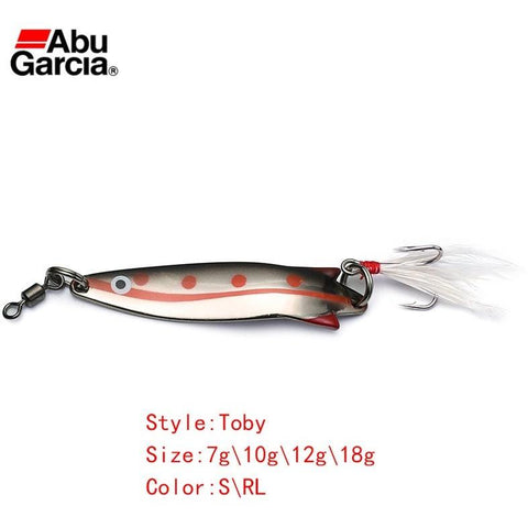 Abu Garcia Brand Toby Style S/RL Silver Red Color Spoon Fishing Lure Spoon Bait for Trout Alburnus Perch Fishing 7g 10g 12g 18g