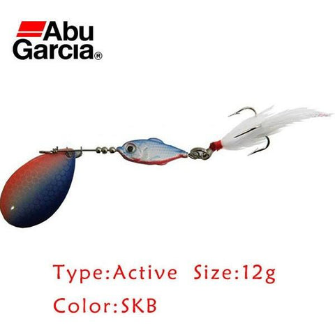 Abu Garcia Brand Active spoon Bait 12g  SKB Color Spinner Bait Fishing Lure spoon with stainless Treble Hook