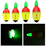 Night Lighting Fishing Float EVA Electronic Light with 2 Button Cells Outdoor Luminous Float Fishing Tackle Accessory
