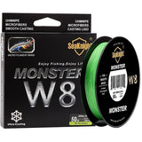 2017 SeaKnight MONSTER 500M 8 Strands Fishing Line Wide Angle Technology 0.8# PE Multifilament Floating Fishing Line 15LB 6.8KG