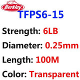 Berkley Brand Trilene 100M 110YD 100% Fluorocarbon Fishing Line PVDF Tech Transparent Super Strong Invisibility Leader Line