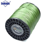 SeaKnight Brand 1000M 8 strands Super Quality Braided Fishing Line Green Color Multifilament Fishing Rope Fish Wire 120-300LB