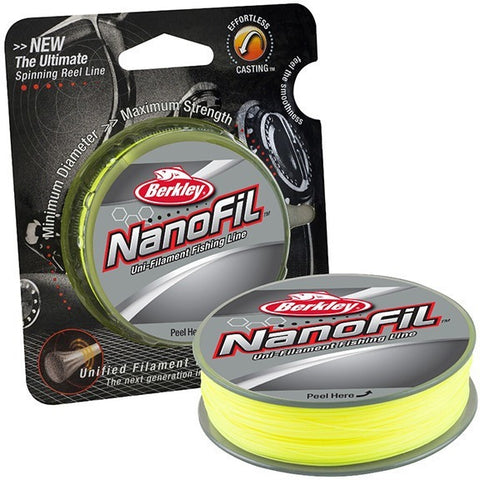 Berkley Brand NANOFIL Green 150YD Ultra Smooth and Thin Unified Filament Fishing Line the ultimate Spinning Reel Line  4-17LB