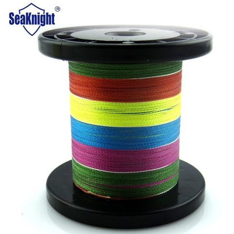 Poseidon Brand 1000M 4 strands PE Multicolor Braided Fishing Line Multifilament Fishing Wire 8-100LB