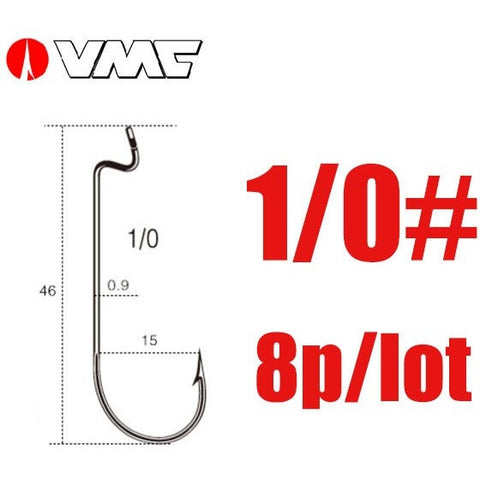 VMC Brand Vanadium Steel 8313 BN Color Z Lock Bend Forged Ringed Fish Hooks Soft Worm Bait Hook 1/0# 2/0# 3/0# 4/0# 5/0#