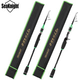 2017 New SeaKnight BASHER Fishing Rod 2.1/2.4m BaitCasting&Spinning Carbon Fiber Telescopic Fishing Pole Travel Rods