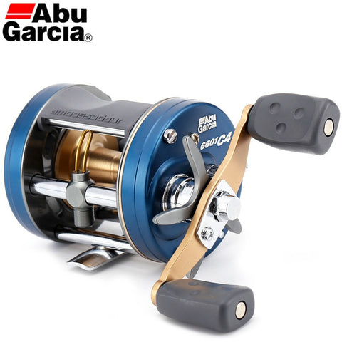 Original 2014 Abu Garcia AMBASSADEUR 6601 C4 Right Left Hand Baitcasting Fishing Reel 6.3:1 5BB 310g Drum Fish Gear Carp Fishing