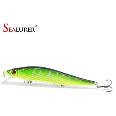 14 cm 23.7 g Fishing Lure Minnow Hard Bait with 3 Fishing Hooks