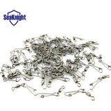 New 200pcs 6# 2.3cm Fishing Rolling Swivel With Hooked Snap  fishing lure connector small accessories fishing tackle b-103