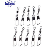 Seaknight Fishing Snap Swivel 100pcs/lot B-101 2/0# Safety Snap with Brass Barrel Swivel Fishing Accessories for sea Fishing