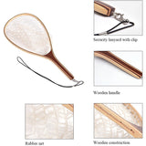 Fly Fishing Net Mesh Wooden Handle Nylon / Rubber Landing Net Catch and Release Holder Basket Pesca Combo Kit Trout FishingTools