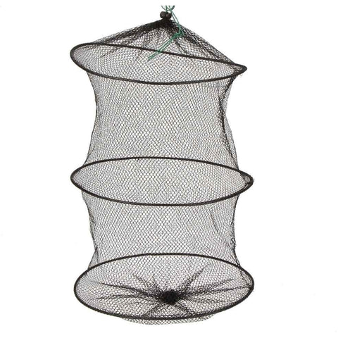 Mini 2 Layers Fishing Net 29.5cm Small Fish Lobster Shrimp Collapsible Portable Fishing Net Nylon Mesh Fishing Net Cage