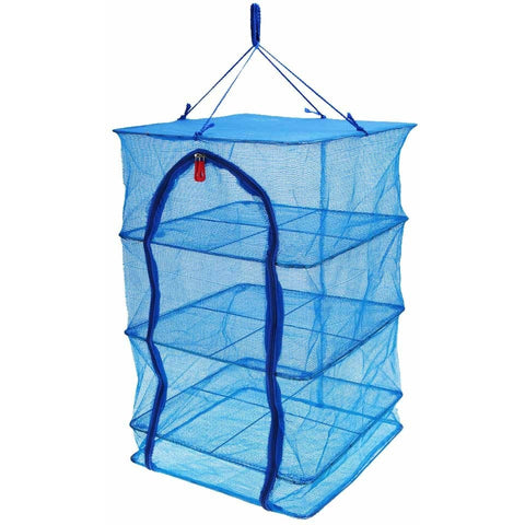 Durable Drying Rack Folding Hanging Vegetable Fish Dishes Dryer Net Dry Rack PE Hanger 40 * 40 * 65cm 4 Layers Drying Net