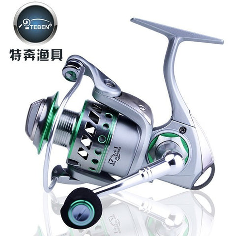 Teben Brand CBS 3000 Series Stainless Full Metal Saltwater Spinning Fishing Reel 7+1BB 5.2:1 Fish Reel for Sea Fishing Gear