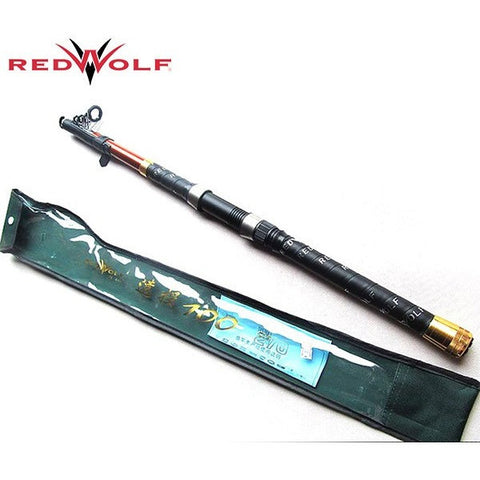 Brand RWLC100 3M Telescopic Fishing Rod Carbon Fiber Stick in Fishing 7 sections Casting Sea Fishing Pole