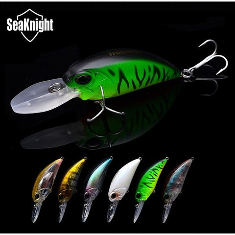 Trulinoya Brand Hard Plastic Fishing Lure DW32 Crank Bait 60mm 16g  Carp Fishing Artificial Lure Crankbait  6pcs/lot
