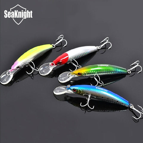 Trulinoya  Brand  Minnow DW13  105mm 17g Hard Bait Artificial Lure Carp Fishing Lure Swimbait with VMC Hooks 4pcs/lot