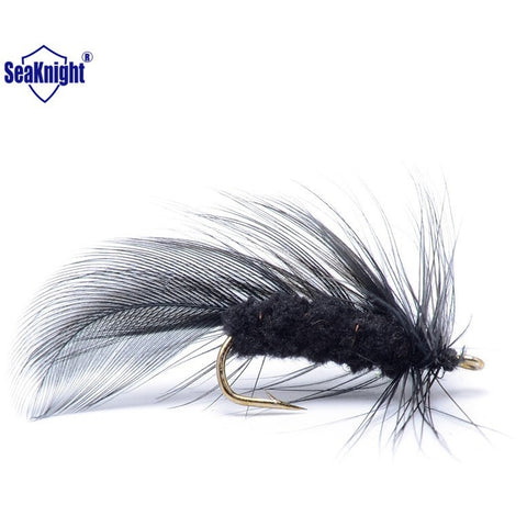 SeaKnight 60pcs Feather Fly Fishing Lure Insect Fishing Artificial  Bait Single Hooks Dry Fish Bait