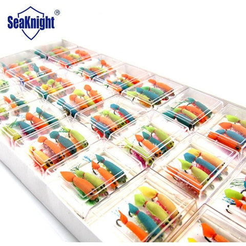 SeaKnight 96pcs Mini Shrimp Style Dry Fishing Insect Bait Fly Fishing Lure Artificial Carp Fishing Trout Fishing