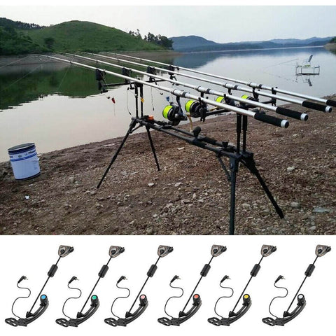 LED Carp Fishing Swinger Hanger Illuminated Swinger Sensor Swinger Illuminated Bite Indicator Fishing Bite Alarm Fishing Tackle