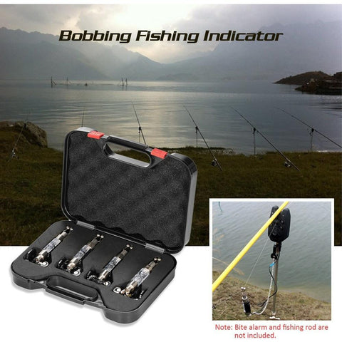 4PCS Fishing  Swinger LED Illuminated Bobbing Fishing Indicators Carp Fishing Swingers Fishing Tackle for Bite Alarm