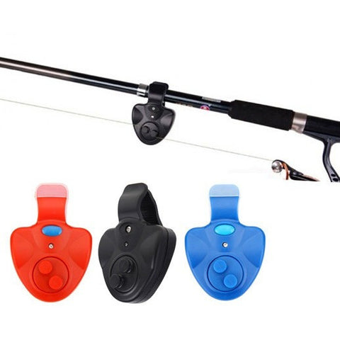 Black Universal Fishing Alarm Electronic Fish Bite Alarm Finder Sound Alert LED Light Clip On Fishing Rod Fishing Tackle