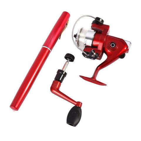 Portable Telescopic Pocket Pen Fishing Rod + Reel+ Fishing line