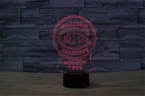 NHL Montreal Canadiens 3D 7 Colors Mode Led Touch Lamp!!