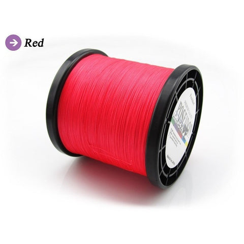 Poseidon Brand High Strong 1000M PE Fishing Material 4 Strands Braided Fishing Line Multifilament Fresh Sea Fishing Wire 6-100LB