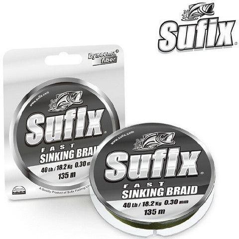 Sufix Brand 135m Fast Sinking Braid Lo Vis Green Fishing Line Braided Saltwater Freshwater Multifilament Fishing Wire