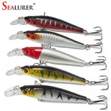 2015 Pesca Fishing lures 8CM 7.8G Minnow Crankbaits 5pcs/lot  hard bait Fishing Tackle free shipping