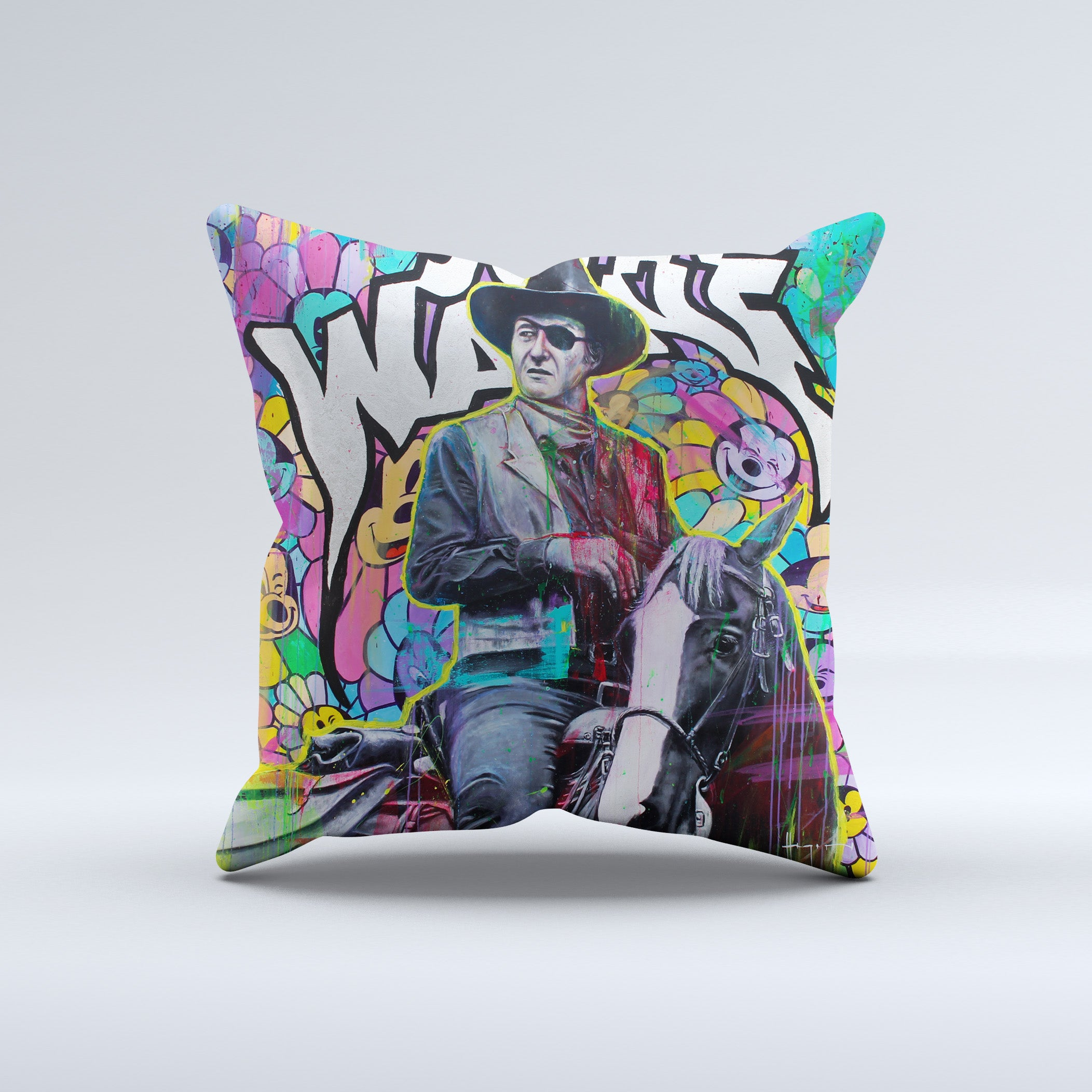 Hey John Wayne! Throw Pillow