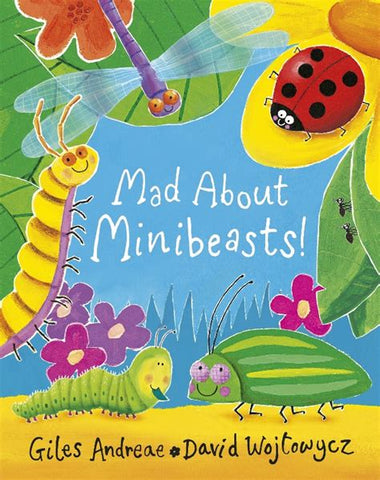 Mad about minibeasts book cover