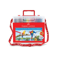 Faber Castell 48 Watercolour Pencils + Brush Set