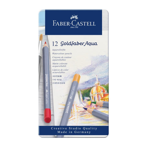 Faber Castell Goldfaber Aqua Watercolour Pencil | Pack of 12