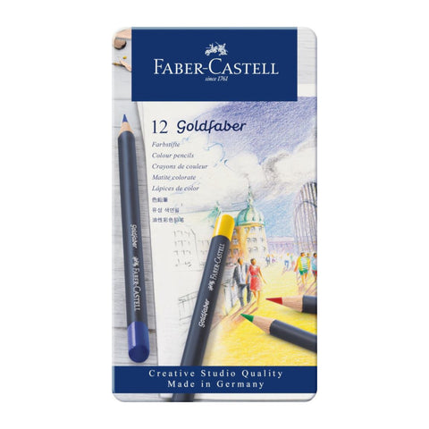 Faber Castell Goldfaber Colour Pencils | Pack of 12 Pencils