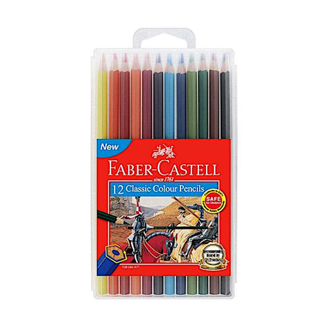 Faber Castell Classic Colour Pencils - 12 Colours